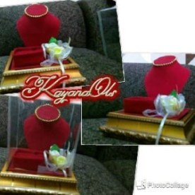 Kotak tempat seserahan mahar perhiasan kalung,cincin(mini)