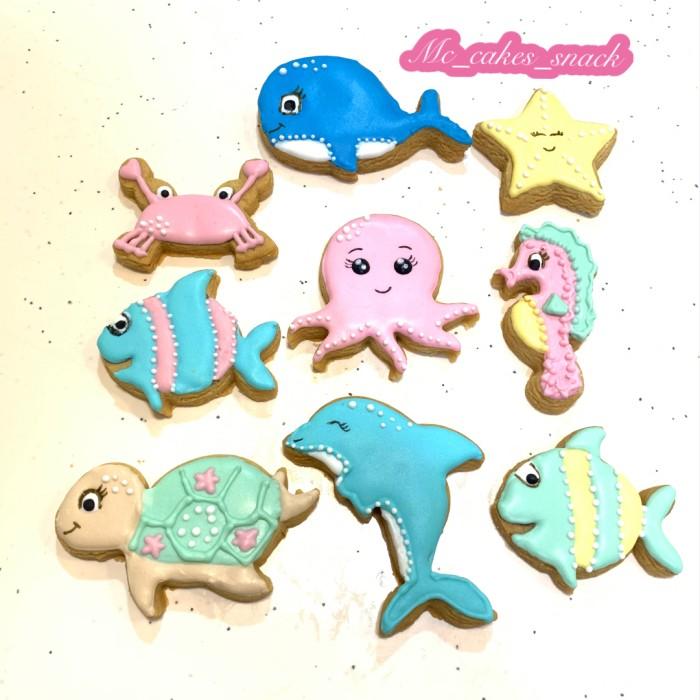 Jual Cookies Sea Animals Under The Sea Jakarta Utara Mc Cakes Snack Tokopedia
