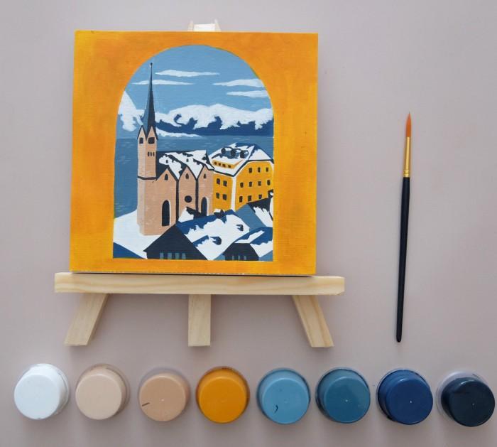 Jual Hallstat Winter Art Set Paint By Number Kanvas Mini Jakarta Barat Mady Luigi Tokopedia
