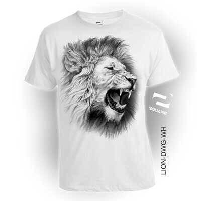 Jual K Sq Lion Drawing White Kid Kota Bandung Belanja Kaos Tokopedia