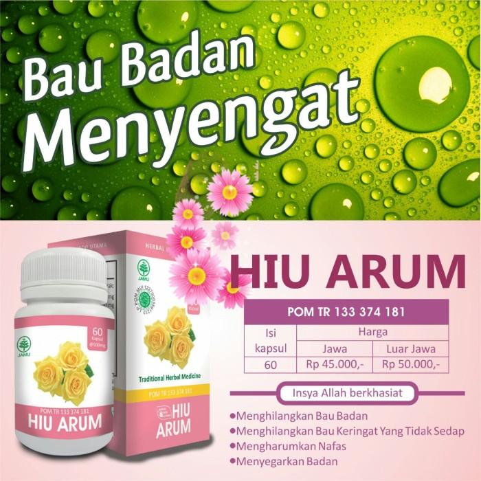 Jual Kapsul HIU ARUM Obat Penghilang Bau Badan Herbalindoutama - Kota Yogyakarta - toko afandi | Tokopedia