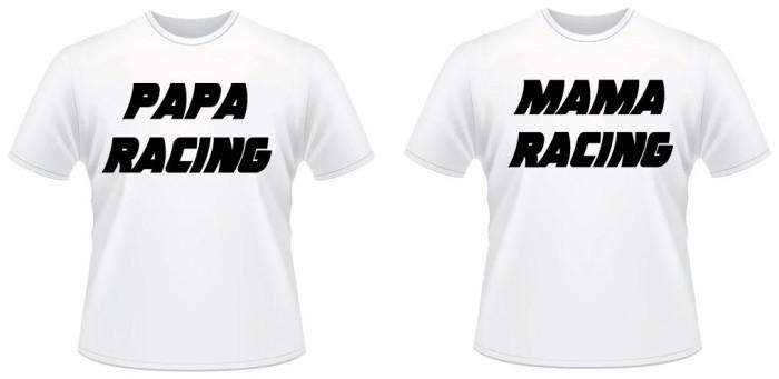 Jual Kaos Cuple Kata Kata Papa Mama Racing Jakarta Selatan