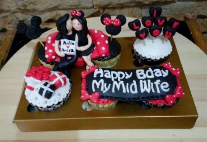 Jual Cupcake Minnie Mouse Bday Cake Minnie Mouse Kado Unik