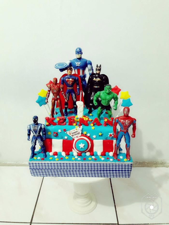 Jual Kue Ulang Tahun Captain America Super Hero Fondant
