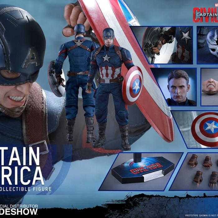 Jual Hot Toys Captain America Civil War 1 6 Scale Kota Depok Rendicha Store Tokopedia