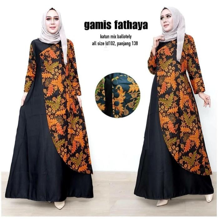 Gamis Batik Kombinasi Nusagates