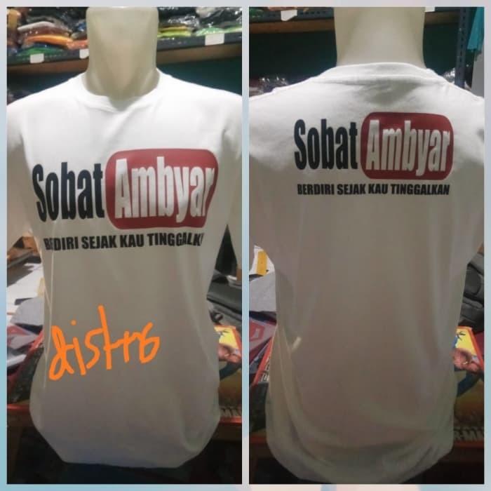 Jual Kaos Sobat Ambyar Didi Kempot Murah T Shirt Ambyar Putih