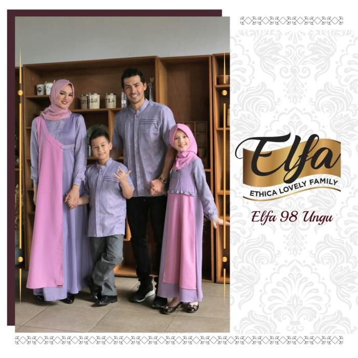 Jual Sarimbit Ethica Elfa 98 Ungu Seragam Keluarga Muslim Lebaran