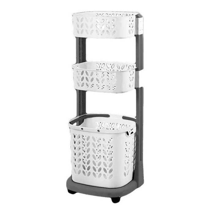 Jual Rovega Laundry Basket 3 Level Rlb 300 Grey White Keranjang Baju Rak Jakarta Utara Potta Litta Tokopedia