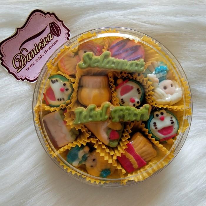 Jual Coklat Karakter Kartun Anak Dgn Ucapan Selamat Idul Fitri