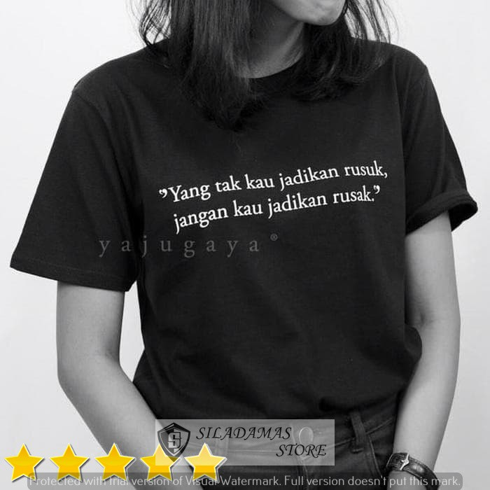 Jual Siladamas Kaos Kata Kata Mutiara Quote Rusuk Kab Tangerang