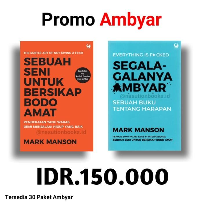 Jual Promo Ambyar Mark Manson Kab Sleman Nasutionbooks Id