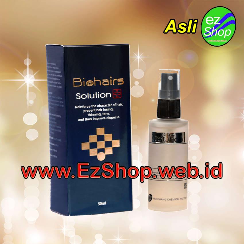 Biohairs Solution  Obat Penumbuh Rambut Alami Biohair Tonic Bio Hair Hairs Jaminan Asli Ezshop