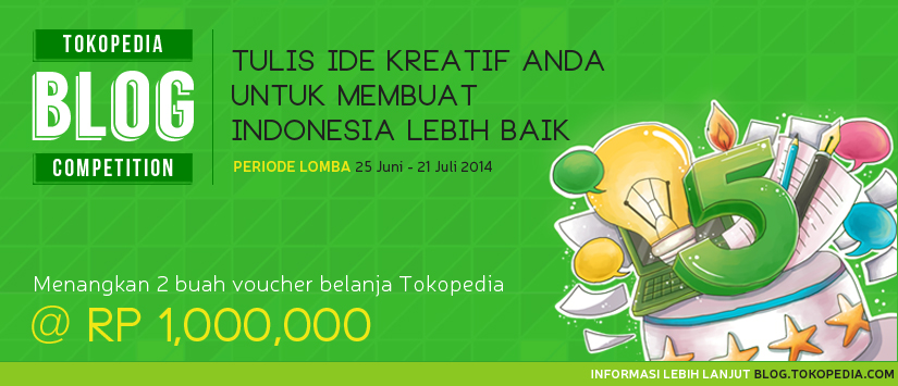 Kompetisi Blog Tokopedia 5th Anniversary