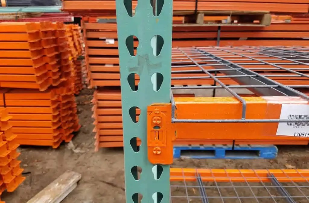 Used Interlake Short Teardrop Pallet Rack – 48″ x 8′ x 108″ x 2 1/2″