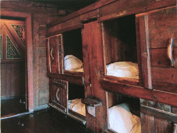 Postcard of bunks in Bergen's old bryggen
