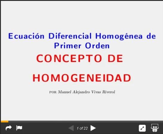 ecuacion diferencial homogenea de primer orden
