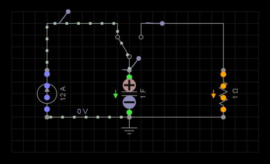 Carga del Capacitor en circuit RC marcapaso del corazón