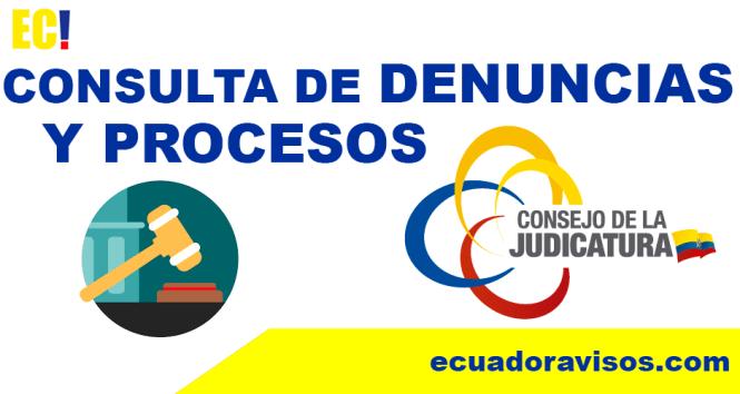 consulta de denuncias y procesos