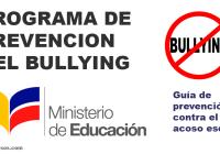 bullyin ministerio de educación