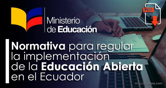 educacion-abierta-mineduc-ecuador-normativa