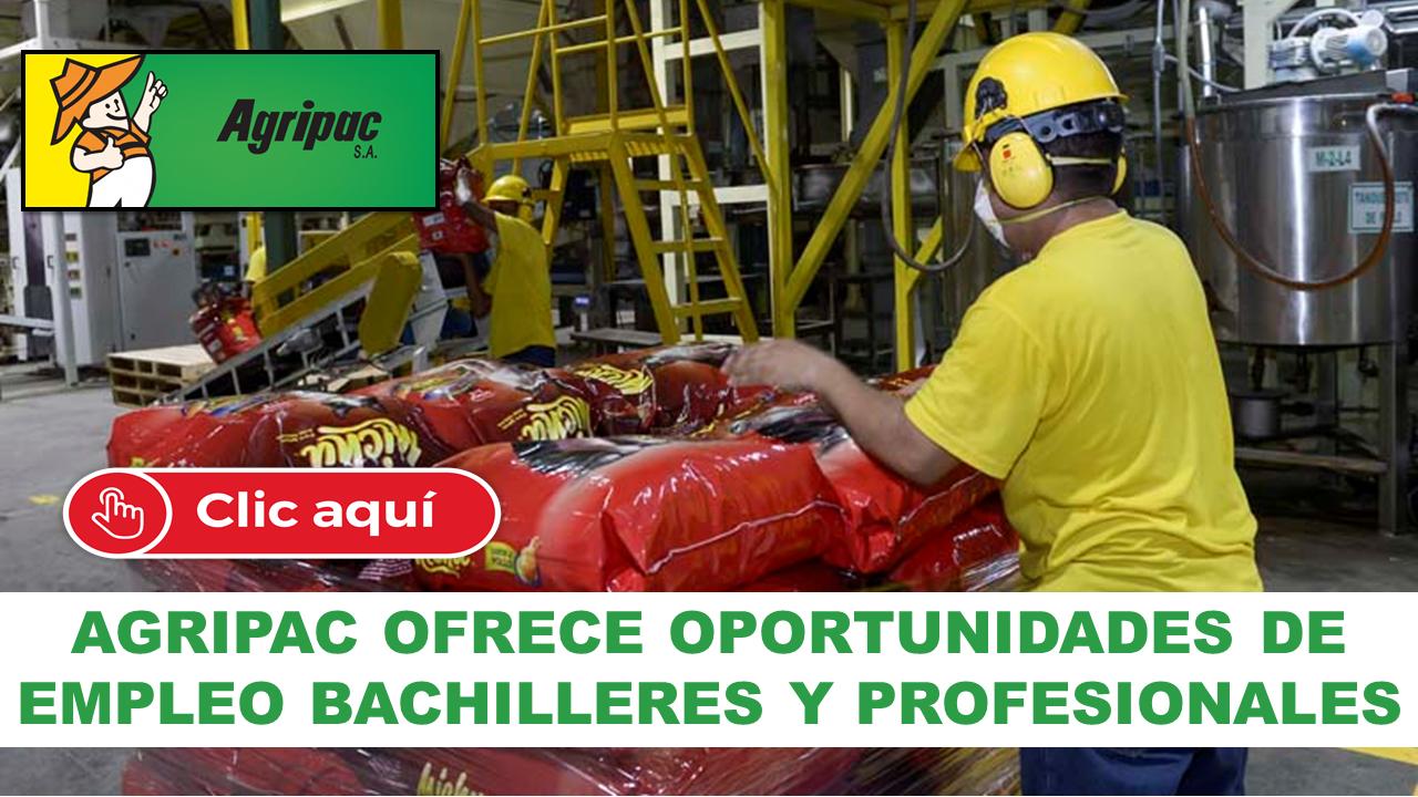AGRIPAC OFRECE OPORTUNIDADES DE EMPLEO BACHILLERES Y PROFESIONALES