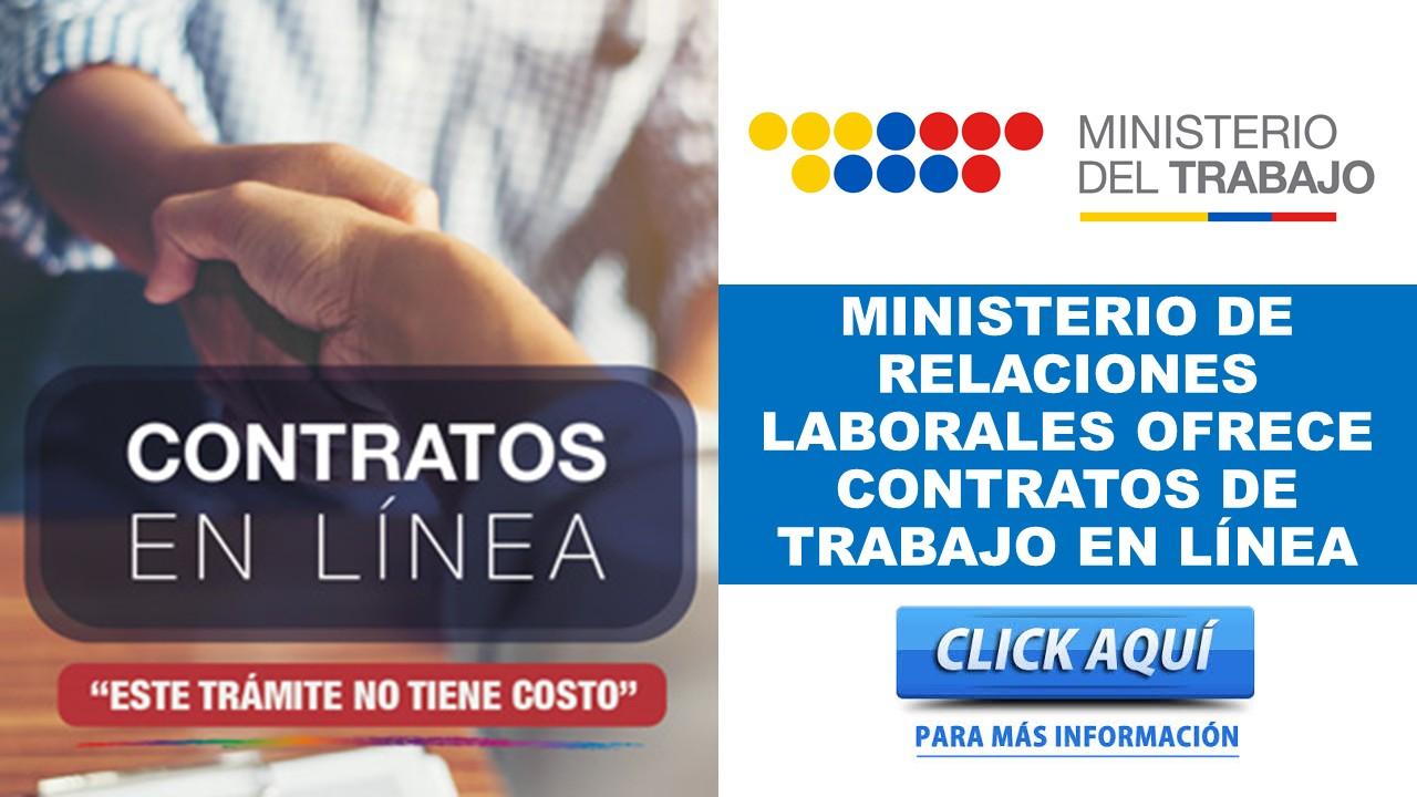Ministerio de Trabajo ofrece contratos de trabajo en línea