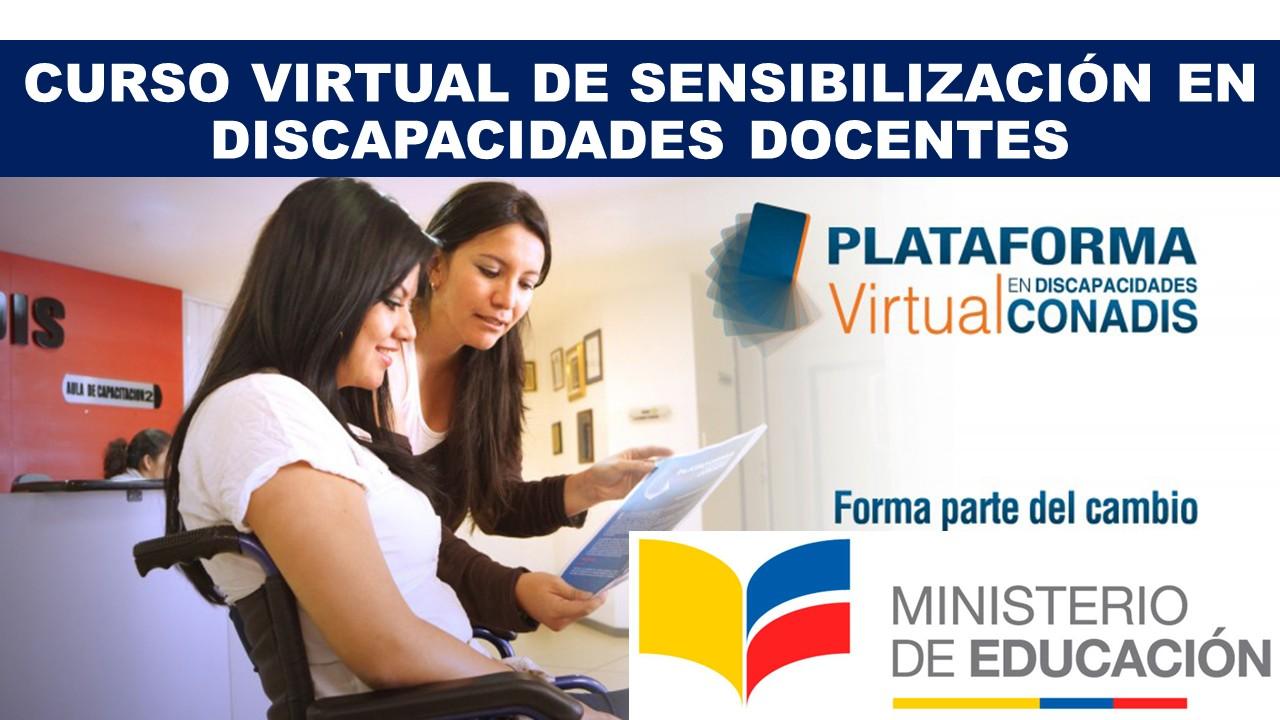 Curso Virtual de Sensibilización en Discapacidades Docentes