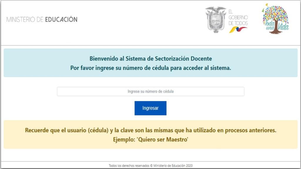Sectorización Docente Ministerio de Educación Ecuador