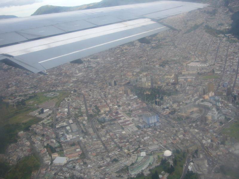 Vuelo desde Quito hacía Baltra.