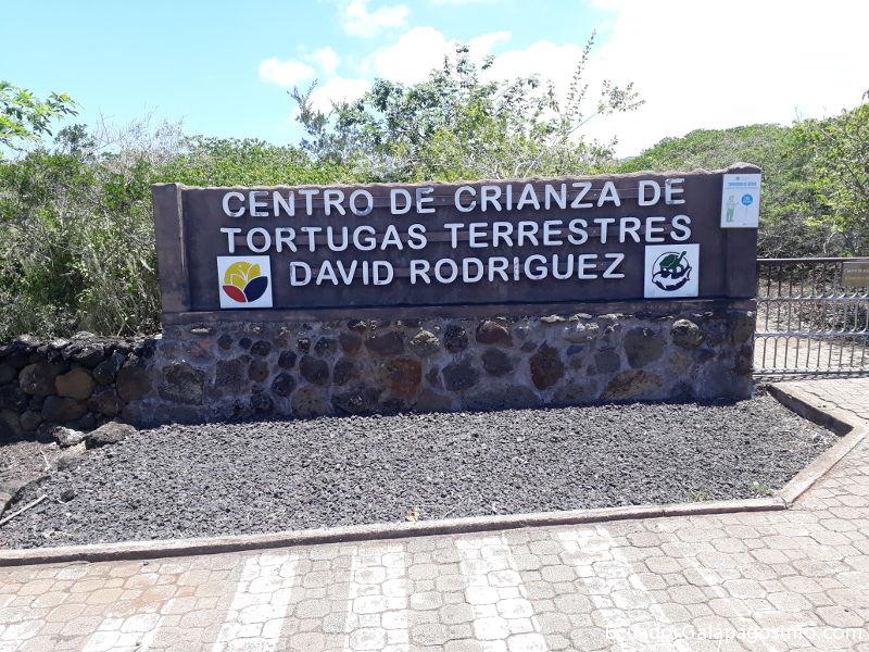 Entrada a la Galapaguera.