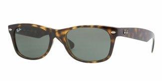 Ray-Ban RB2132 - New Wayfarer Non-Polarized Sunglasses, Tortoise Frame/G-15-XLT Lens, 52 mm