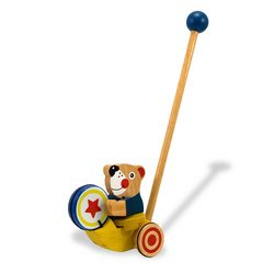 Melissa & Doug Deluxe Drumming Bear Push Toy
