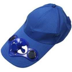 サンコー ソーラーファン内蔵帽子(ブルー) SLRCAP11