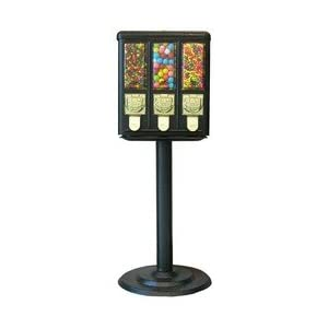 Triple Vending Gumball Candy Machine with stand
