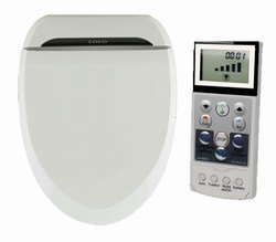 Coco Bidet 6035rs Round Electronic Toilet Seat Remote Control Heated