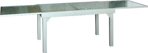 Gartentisch Diplomat-XXL Premium Ausziehtisch silber 135 - 270 cm