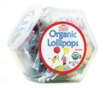 Organic Lollipops Assorted Bin 25 Ct