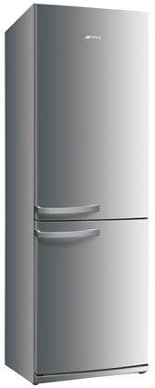Smeg FC32APX Standkühl- Gefrierkombination / Volledelstahlverkleidet / Türanschlag wechselbar / Kühlteil 214 Liter / Gefrierteil**** 88 Liter