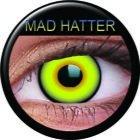 Farbige Kontaktlinsen crazy Kontaktlinsen crazy contact lenses mad hatter grün gelb schwarz 1 Paar inkl. 60ml Kombilösung und Kontaktlinsenbehälter