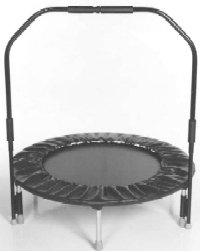 Needak Folding Hard-Bounce rebounder Black w/Stabilizing Bar - R03-05