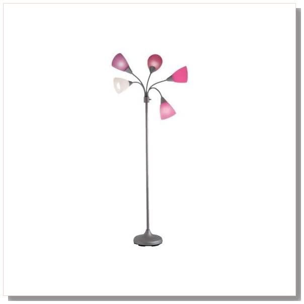 Room Essentials? 5-Head Floor Lamp - Pink