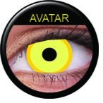 Farbige Kontaktlinsen crazy Kontaktlinsen crazy contact lenses avatar gelb 1 Paar inkl. 60ml Kombilösung und Kontaktlinsenbehälter