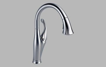 delta faucet 9192 ar dst addison single handle water efficient pull down kitchen faucet arctic stainless holiday deals nhat24thang52