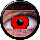 Farbige Kontaktlinsen crazy Kontaktlinsen crazy contact lenses Voldemort rot mit schwarzem Rand 1 Paar inkl. 60ml Kombilösung und Kontaktlinsenbehälter
