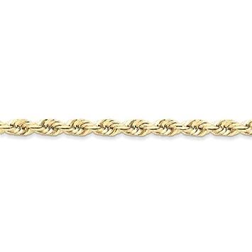 10k yellow gold handmade diamond cut rope chain anklet ftyujgfghvf