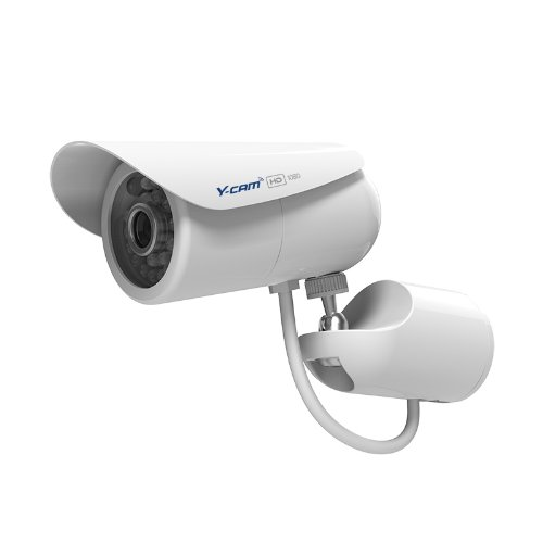Y-cam Bullet HD 1080 Full HD Outdoor Surveillance Camera, Weatherproof, NAS compatible, Infrared night vision, Power over Ethernet (POE), motion detection & alerts and ONVIF