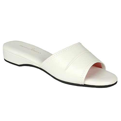 buy low price daniel green juniors womens white open toe daniel green slippers on shoppinder