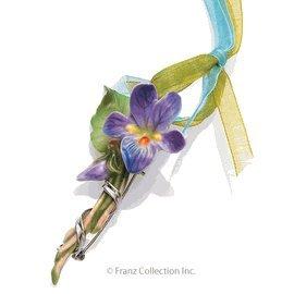 Spring Violet Pendant / Brooch