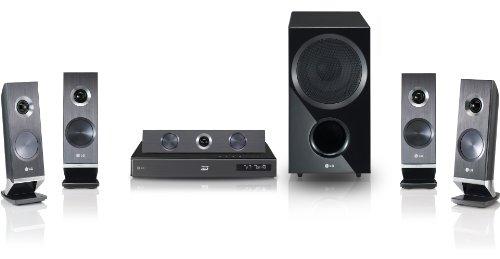 LG HX966SZ 5.1 3D Blu-ray-Heimkinosystem (HDMI, Upscaler 1080p, DLNA, WLAN-Ready, Apple iPod-Anschluss, 1100 Watt, USB 2.0) schwarz